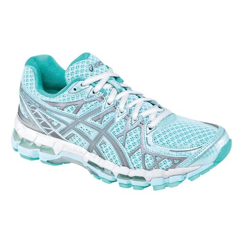 Womens ASICS GEL-Kayano 20 Lite-Show Running Shoe - Mint 7.5