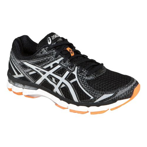 Mens ASICS GT-2000 2 Lite-Show Running Shoe - Black/Orange 8.5