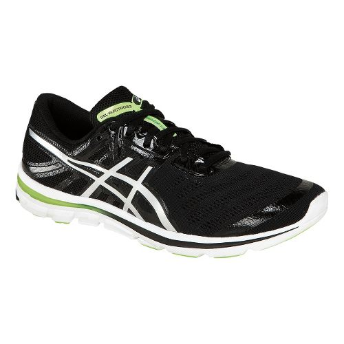 Mens ASICS GEL-Electro33 Running Shoe - Black/Green 7.5