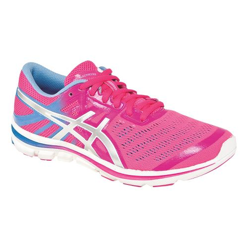 Womens ASICS GEL-Electro33 Running Shoe - Flash Pink/Silver 5.5
