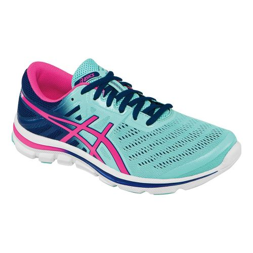 Womens ASICS GEL-Electro33 Running Shoe - Ice Blue/Hot Pink 8.5