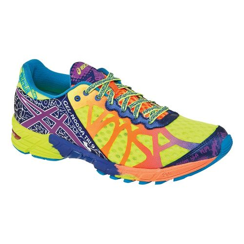 Mens ASICS GEL-Noosa Tri 9 Running Shoe - Flash Yellow/Neon Purple 15