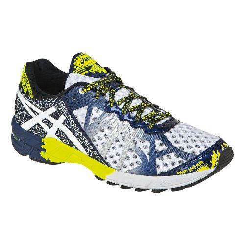 Mens ASICS GEL-Noosa Tri 9 Running Shoe - White/Flash Yellow 15