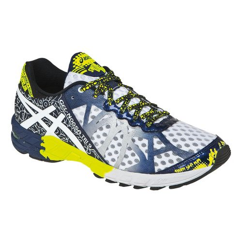 Mens ASICS GEL-Noosa Tri 9 Running Shoe - White/Flash Yellow 7.5