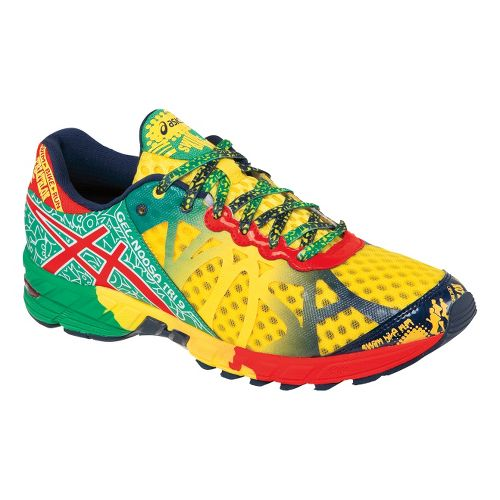 Mens ASICS GEL-Noosa Tri 9 Running Shoe - Yellow/Red 10.5