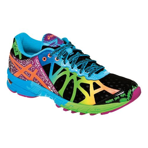 Womens ASICS GEL-Noosa Tri 9 Running Shoe - Black/Neon Coral 10.5