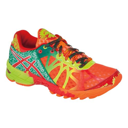 Womens ASICS GEL-Noosa Tri 9 Running Shoe - Brite Orange/Red Pepper 8
