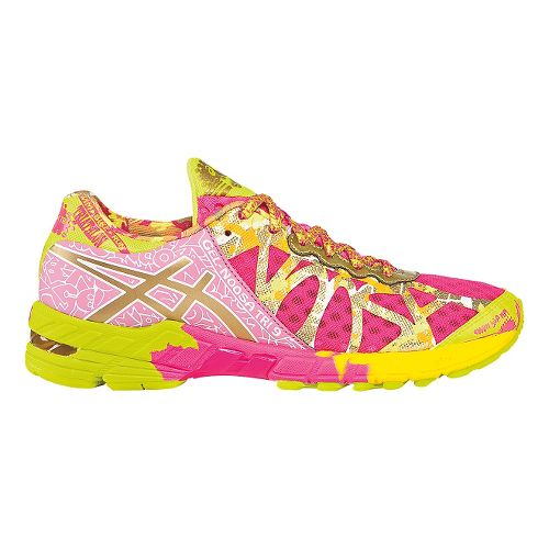 Womens ASICS GEL-Noosa Tri 9 Running Shoe - Hot Pink/Gold 9