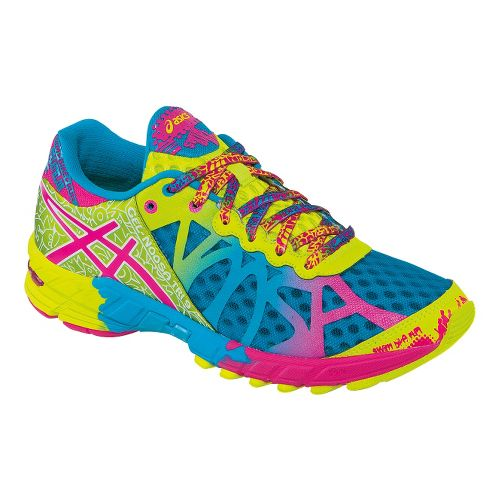 Womens ASICS GEL-Noosa Tri 9 Running Shoe - Teal/Lime 10.5