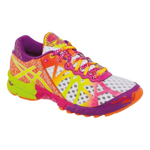 Womens ASICS GEL-Noosa Tri 9 Running Shoe - White/Flash Yellow 7.5