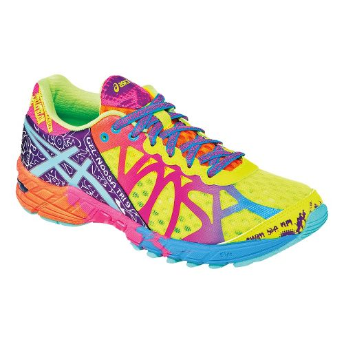 Womens ASICS GEL-Noosa Tri 9 Running Shoe - Yellow/Multi 8.5