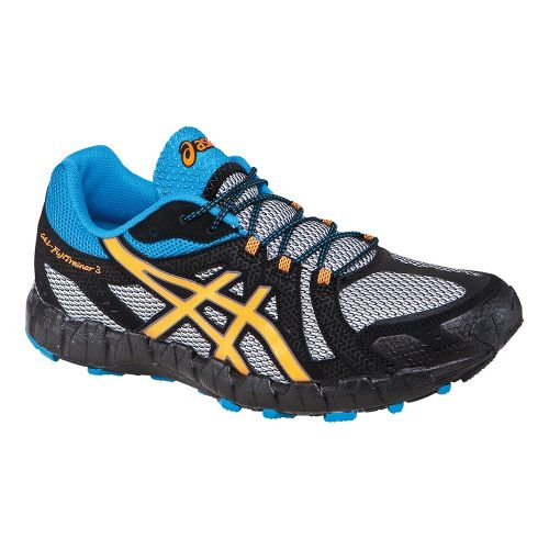 Mens ASICS GEL-FujiTrainer 3 Trail Running Shoe - Grey/Orange 7.5