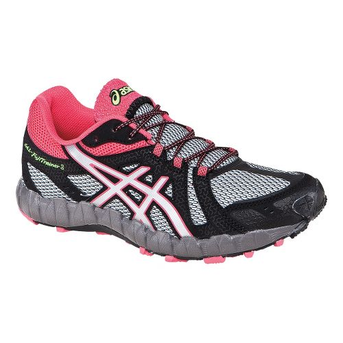 Womens ASICS GEL-FujiTrainer 3 Trail Running Shoe - Grey/Pink 6.5