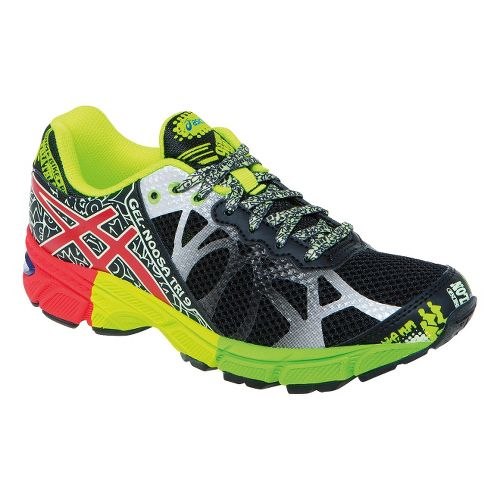 Kids ASICS GEL-Noosa Tri 9 GS Running Shoe - Black/Red 5.5