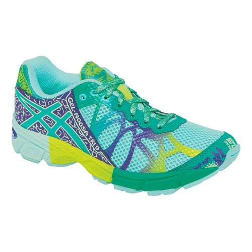 Kids ASICS GEL-Noosa Tri 9 GS Running Shoe - Blue/Green 1.5