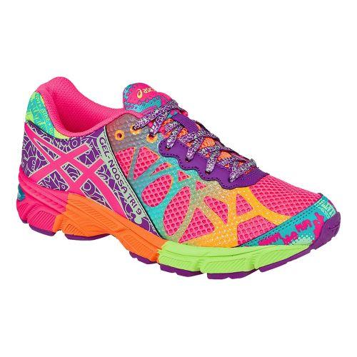 Kids ASICS GEL-Noosa Tri 9 GS Running Shoe - Pink/Multi 6.5