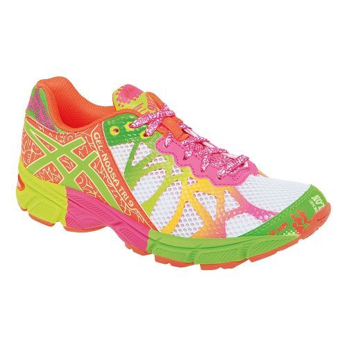 Kids ASICS GEL-Noosa Tri 9 GS Running Shoe - White/Lime 6