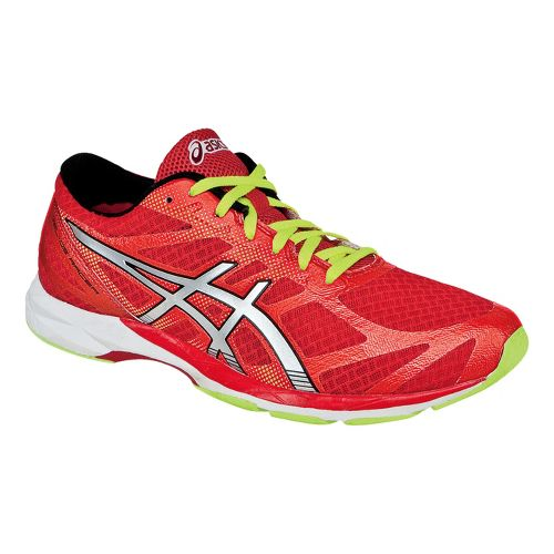 Mens ASICS GEL-DS Racer 10 Racing Shoe - Red/Lime 7.5