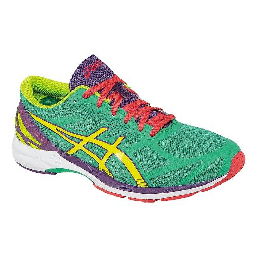 Womens ASICS GEL-DS Racer 10 Racing Shoe - Mint/Yellow 6.5