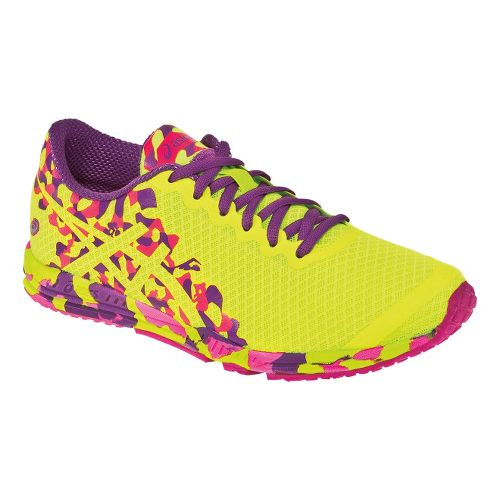 Womens ASICS GEL-Noosafast 2 Racing Shoe - Flash Yellow/Grape 5