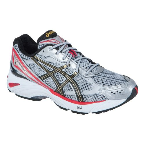 Mens ASICS GEL-Foundation 8 Running Shoe - Grey/Red 14