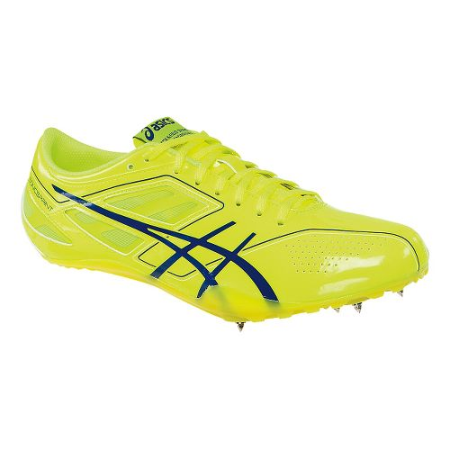 Mens ASICS SonicSprint Track and Field Shoe - Flash Yellow/Blue 10.5