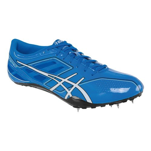 Mens ASICS SonicSprint Track and Field Shoe - Blue/White 11