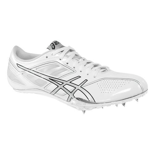 Womens ASICS SonicSprint Track and Field Shoe - White/Silver 8.5
