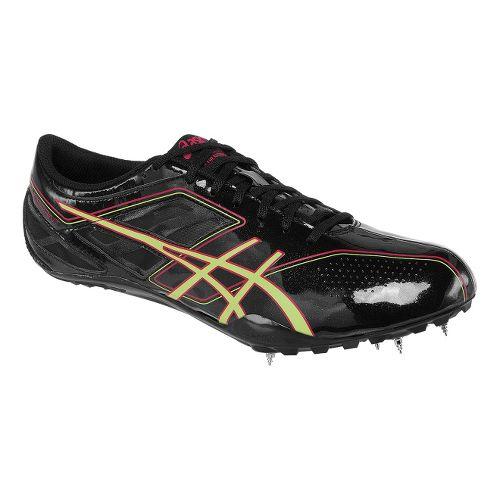 Womens ASICS SonicSprint Track and Field Shoe - Black/Sharp Green 5.5