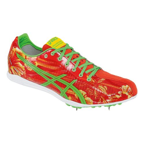 ASICS GunLap Track and Field Shoe - Red Floral 8