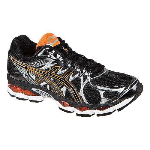 Mens ASICS GEL-Nimbus 16 Running Shoe - Black/Orange 10