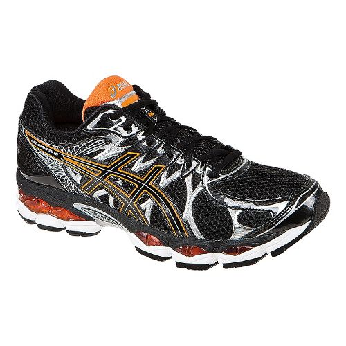 Mens ASICS GEL-Nimbus 16 Running Shoe - Black/Orange 13