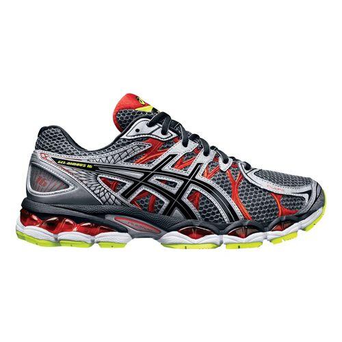 Mens ASICS GEL-Nimbus 16 Running Shoe - Titanium/Black 11.5