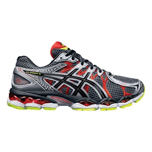 Mens ASICS GEL-Nimbus 16 Running Shoe - Titanium/Black 12.5