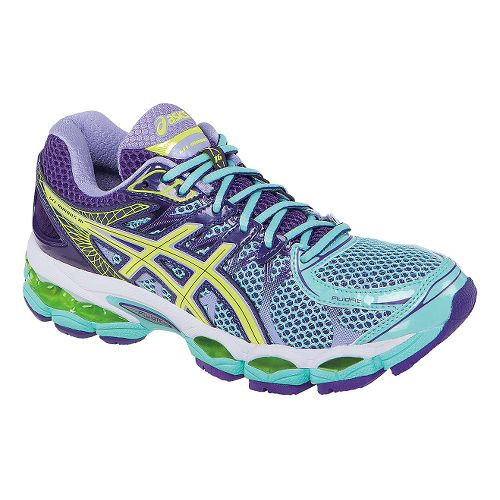 Womens ASICS GEL-Nimbus 16 Running Shoe - Ice Blue/Purple 9.5
