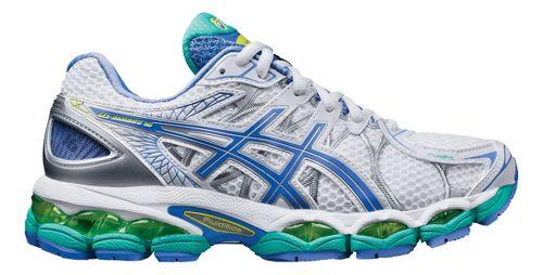 Womens ASICS GEL-Nimbus 16 Running Shoe - White/Periwinkle 6