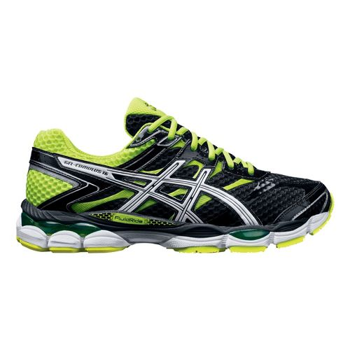 Mens ASICS GEL-Cumulus 16 Running Shoe - Black/High Vis Yellow 13