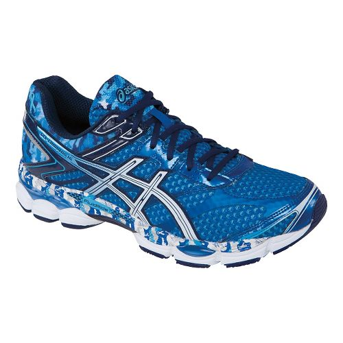 Mens ASICS GEL-Cumulus 16 Running Shoe - Blue/White 6.5