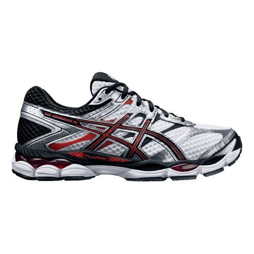 Mens ASICS GEL-Cumulus 16 Running Shoe - White/Black 14