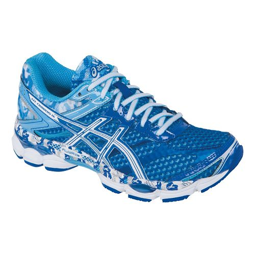 Womens ASICS GEL-Cumulus 16 Running Shoe - Blue/White 11.5
