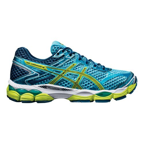 Womens ASICS GEL-Cumulus 16 Running Shoe - Turquoise/Green 5