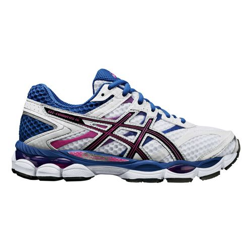 Womens ASICS GEL-Cumulus 16 Running Shoe - White/Purple 10.5