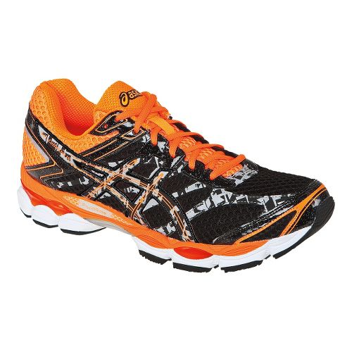 Mens ASICS GEL-Cumulus 16 Lite-Show Running Shoe - Grey/Orange 8