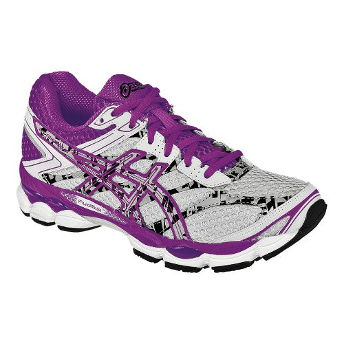 Womens ASICS GEL-Cumulus 16 Lite-Show Running Shoe - Grey/Purple 9.5