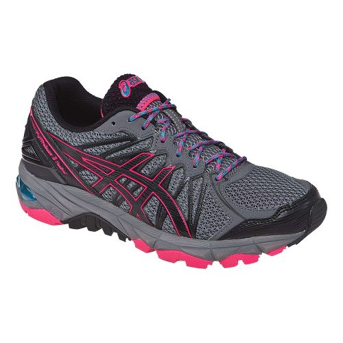 Womens ASICS GEL-FujiTrabuco 3 Neutral Trail Running Shoe - Grey/Pink 5.5