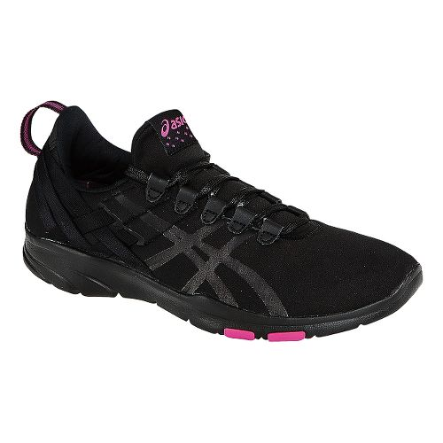 Womens ASICS GEL-Fit Sana Cross Training Shoe - Onyx/Hot Pink 7