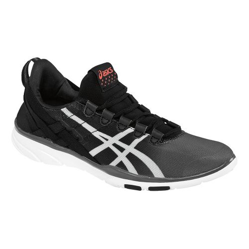 Womens ASICS GEL-Fit Sana Cross Training Shoe - Black/White 10.5