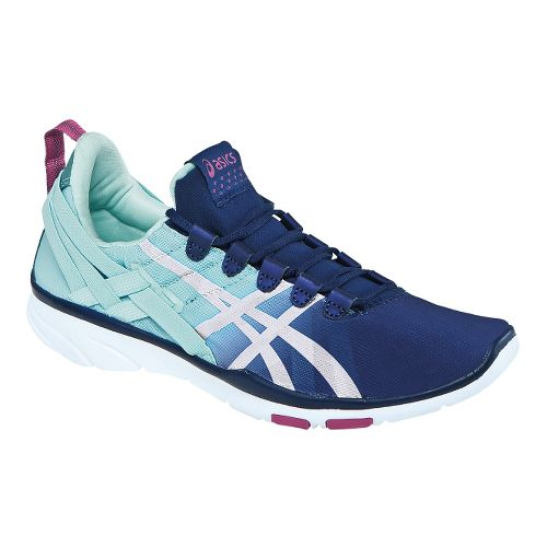 Womens ASICS GEL-Fit Sana Cross Training Shoe - Navy/Mint 6.5