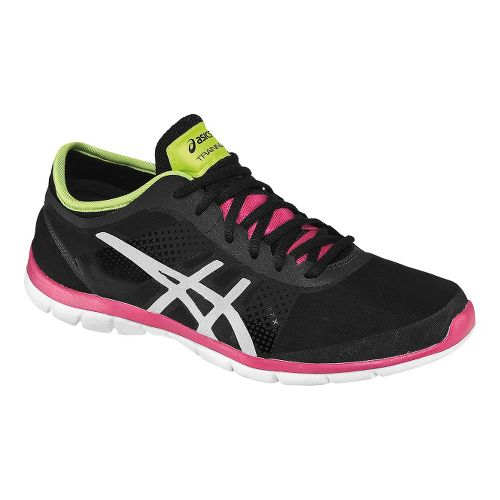 Womens ASICS GEL-Fit Nova Cross Training Shoe - Black/Pink 10