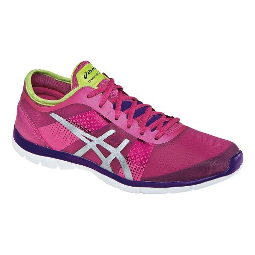 Womens ASICS GEL-Fit Nova Cross Training Shoe - Hot Pink/Silver 9.5